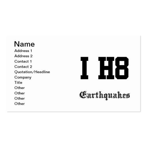 earthquakes business cards