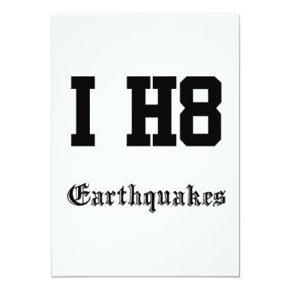 earthquakes card