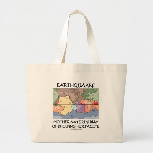 Earthquakes Mother Nature's Way Showing Faults Jumbo Tote Bag