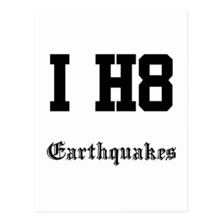 earthquakes postcard