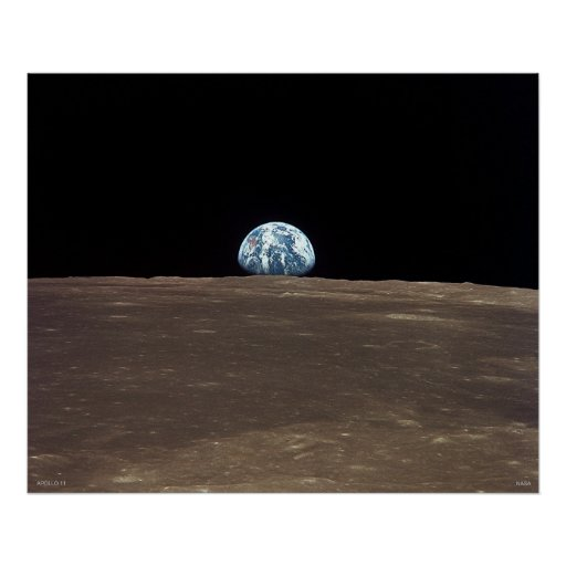 Earthrise - Apollo 11 Posters