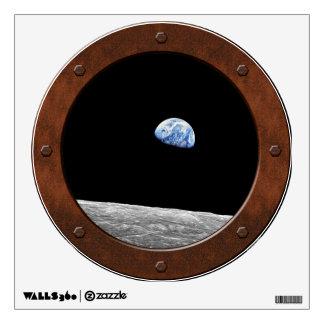 Earthrise - Apollo 8 Steampunk Porthole Window Wall Decal