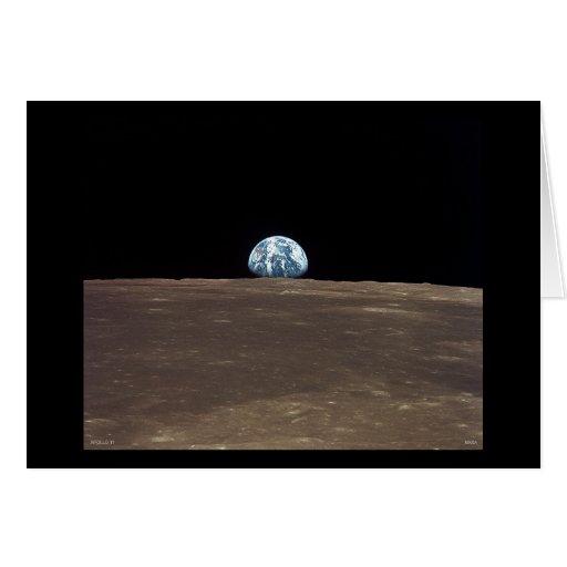Earthrise - Apolo 11 Tarjeta De Felicitación