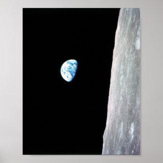 Earthrise de Apolo 8 Posters