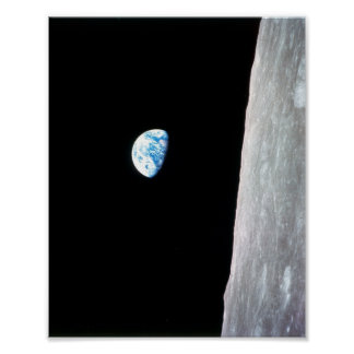 Earthrise de Apolo 8 Póster