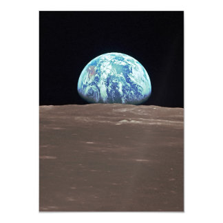 """Earthrise de la luna invitación 4.5"""" x 6.25"""""""