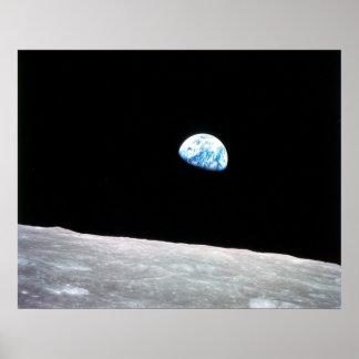 Earthrise de la luna posters