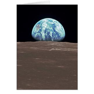 Earthrise de la luna tarjeta de felicitación