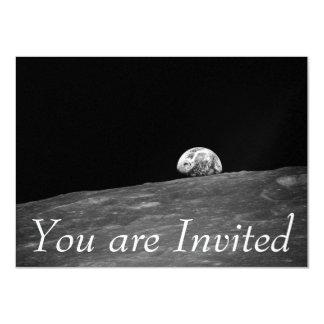 """Earthrise de la misión de la luna de Apolo 8 Invitación 4.5"""" X 6.25"""""""