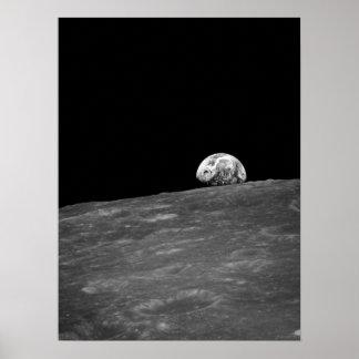 Earthrise de la misión de la luna de Apolo 8 Posters