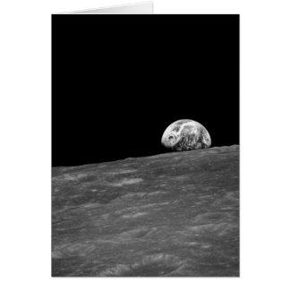 Earthrise de la misión de la luna de Apolo 8 Tarjeta De Felicitación