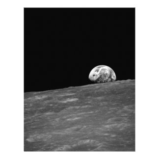 Earthrise from Apollo 8 Moon Mission Flyer