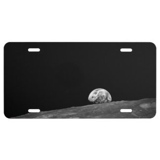 Earthrise from Apollo 8 Moon Mission License Plate