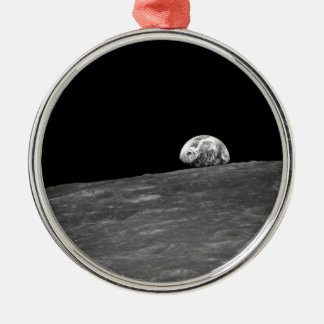 Earthrise from Apollo 8 Moon Mission Round Metal Christmas Ornament