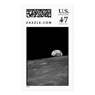 Earthrise from Apollo 8 Moon Mission Postage