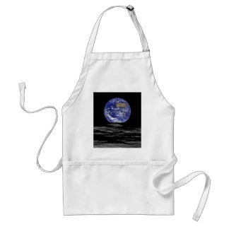Earthrise From The Farside Of The Moon Adult Apron