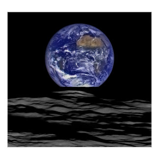 Earthrise From The Farside Of The Moon Poster