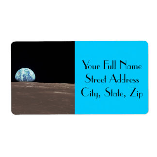 Earthrise from the Moon Label