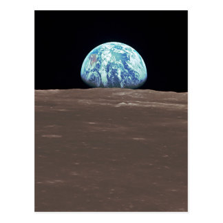 Earthrise from the Moon Postcard