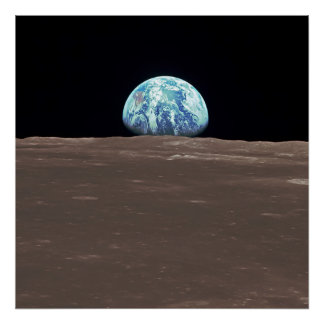 Earthrise from the Moon Poster
