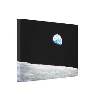 Earthrise - la perspectiva lunar lienzo envuelto para galerías