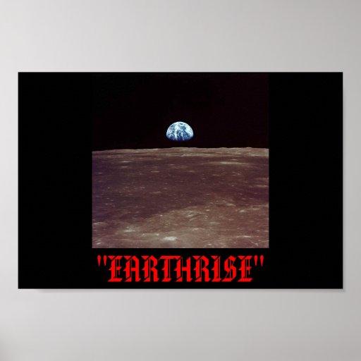 ¡EARTHRISE SOBRE LUNA! PÓSTER