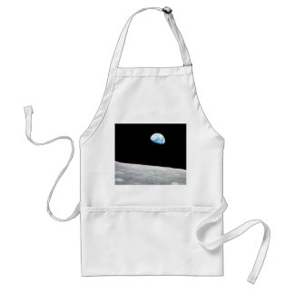 Earthrise - The Lunar Perspective Adult Apron