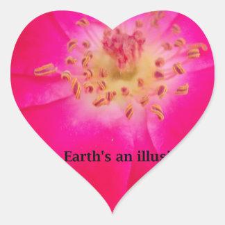 Earth's an Illusion Heart Sticker