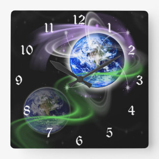 Earth's Ascension Square Wall Clock