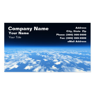 Earth's Atmosphere from Outer Space Business Card Template