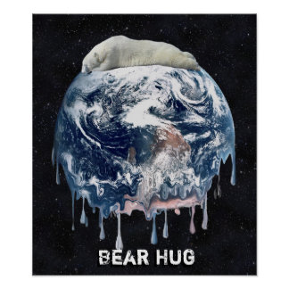 Earth's Bear Hug (Full Universe Background) Poster