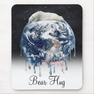 Earth's Bear Hug (w/Half Universe Background) Mouse Pad