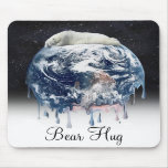 Earth's Bear Hug (w/Half Universe Background) Mouse Pads