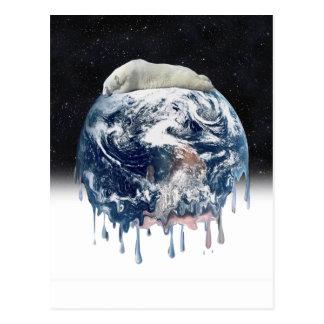 Earth's Bear Hug (w/Half Universe Background) Post Cards