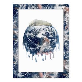 Earth's Bear Hug (With Earth Scene Trim) Post Cards
