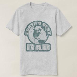 Earths Best Dad Blue T-Shirt