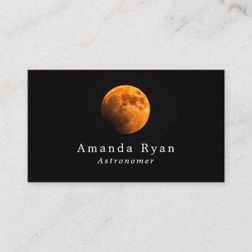 Earths Blood Moon Astronomy Business Card