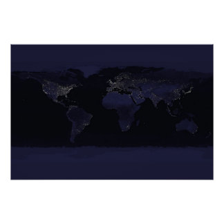 Earth's City Lights Poster