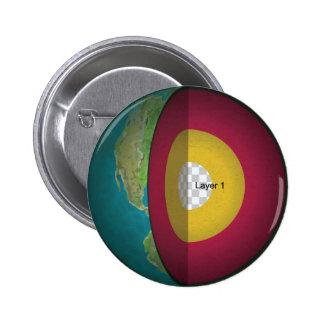 Earth's Core Pinback Button