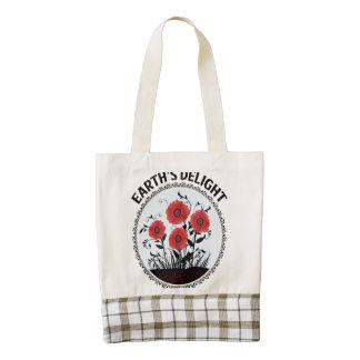 Earth's delight zazzle HEART tote bag