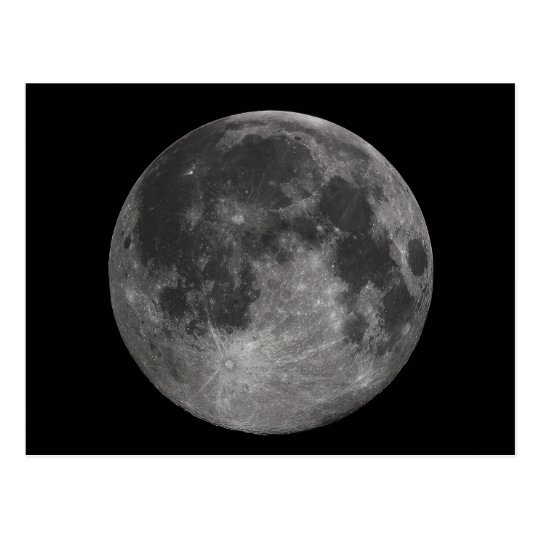 Earth's Full Moon Postcard
