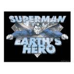 Earth's Hero - Blue Postcard