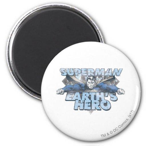 Earth's Hero - Blue Refrigerator Magnets