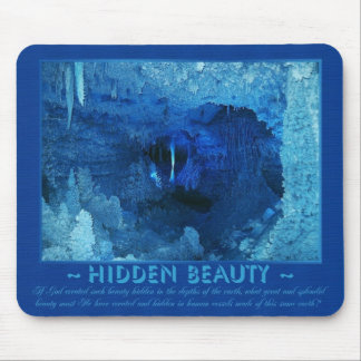 Earth's Hidden Beauty - In Blue Mouse Pad