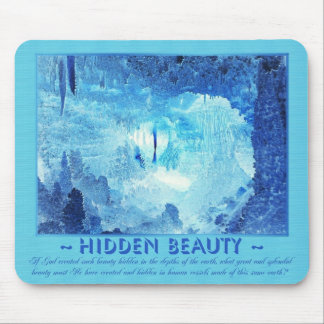 Earth's Hidden Beauty - Turquoise Blue Negative Mouse Pad