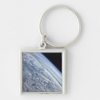 Earth's horizon against the blackness of space keychain