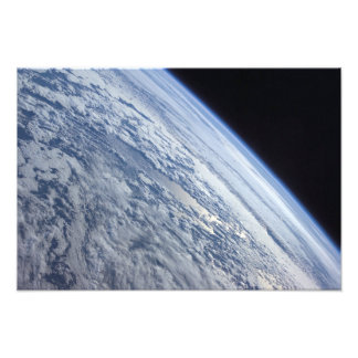 Earth's horizon against the blackness of space photo print
