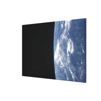 Earth's horizon and the blackness of space 2 canvas print