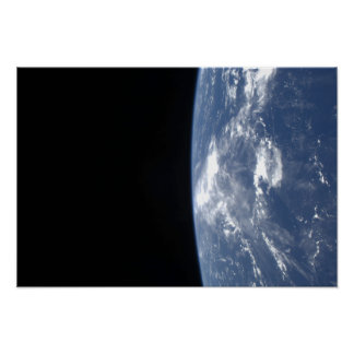 Earth's horizon and the blackness of space poster