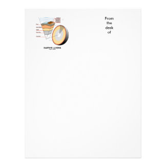Earth's Layers (Earth Science Geology) Customized Letterhead